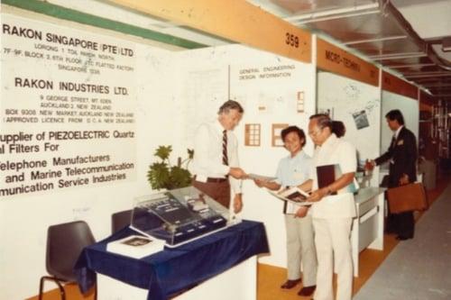 MED-Rakon-at-tradeshow-1980s-Singapore-600x400